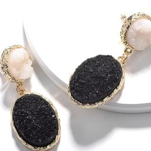 Druzy drusy aguta earrings
